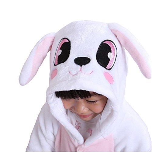 Imagen de abyed kigurumi pijamas unisexo adulto traje disfraz adulto animal pyjamas,conejo chidren tamaño 105 para altura 116 125cm alternativa