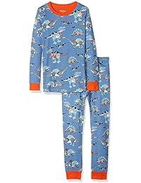 31ef9f4c20 Hatley Boy s Organic Cotton Long Sleeve Printed Pyjama Sets