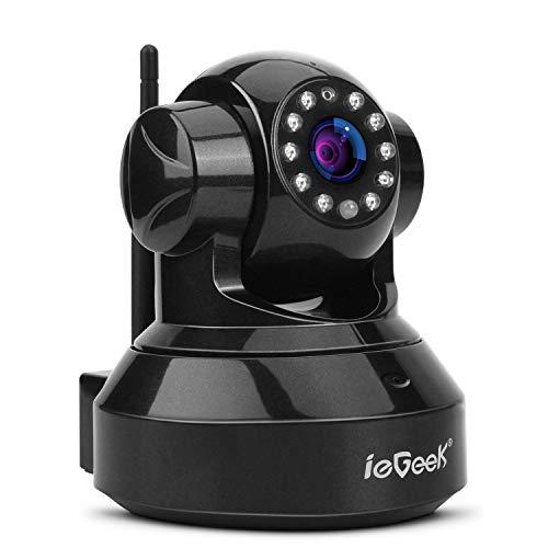 ieGeek WiFi IP Camera 720P HD Wireless Indoor Home CCTV Camera with 2 Way  Audio, Pan/Tilt, Day Night Vision, Elder Baby Pet Smart Security Monitor