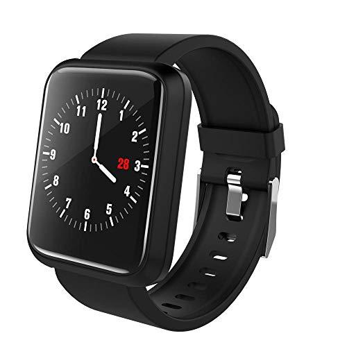 Tonsee Mode Fitness Armbanduhr AktivitäTstracker Bluetooth Unisex Trackers Wasserdicht Farbbildschirm Echtzeit Aktivitätstracker Herzfrequenz Blutdruck Schlafüberwachung Laufsport Smartwatch (Schwarz)