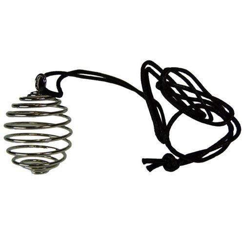 Barefoot tiger cinque pezzi 25mm spirale gabbia per cavo, piatto d' argento cristallo guarigione pendente