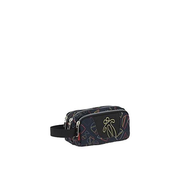 TOTTO AC52ECO009-1810Z-3SH – Estuche escolar con tres compartimentos, 23 cm