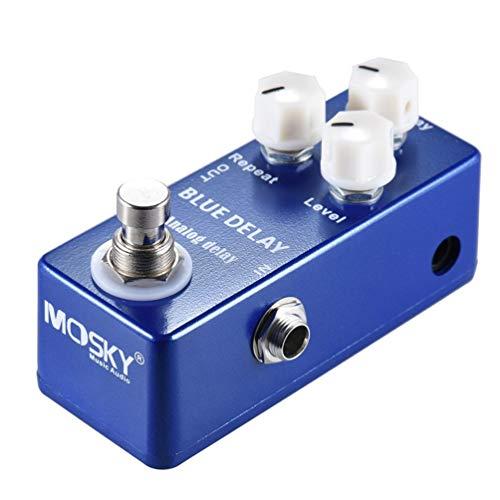 Mouchao Mini Analog Delay Gitarren-Effektpedal True Bypass-Gehäuse aus Zink-Aluminium-Legierung