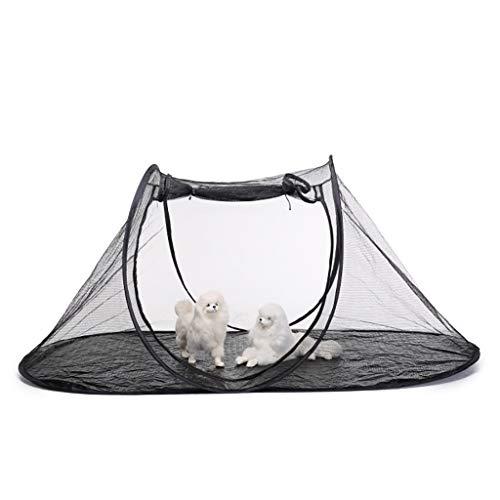Tenda da campeggio per animali domestici leggero portatile pieghevole tenda a rete traspirante grande all'aperto / outdoor cane gatto gioco tenda per giardino parco campeggio estate all'aperto viagg