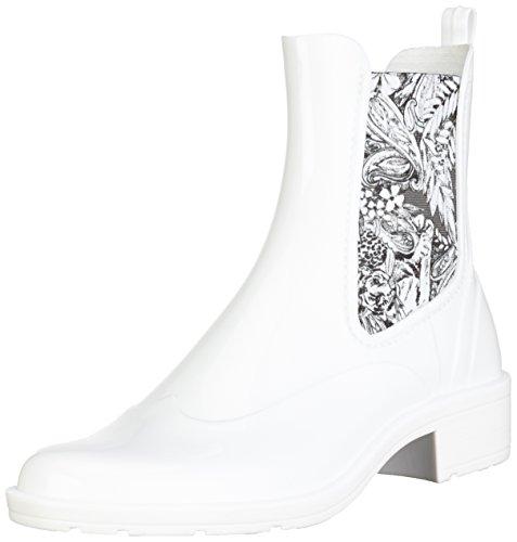 Desigual Boot Bianco di Ankle Pasley Stivali Rain Gomma Donna qpxwqr7ERn