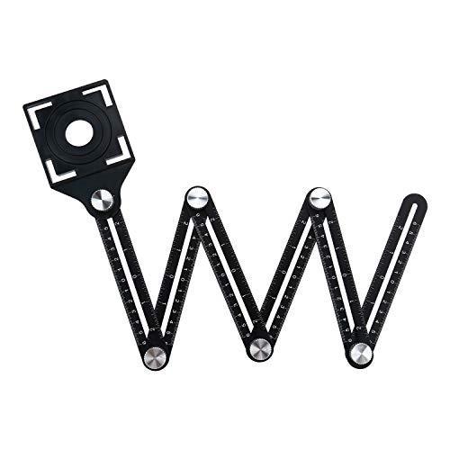 Winkel Vorlage Werkzeug, Winkel Template Tool, Alulegierung Winkelschablone Multi winkel lineal, Mehrwinkel Template Tool für Schreiner Den Bau Tischler Handwerker Architekt (6 sides) -