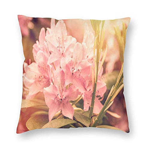 fuyon Pillow Cover Blossom Bloom Rhododendron Decorative Home Sofa Throw Pillow Case Cushion Cover Multiple Sizes