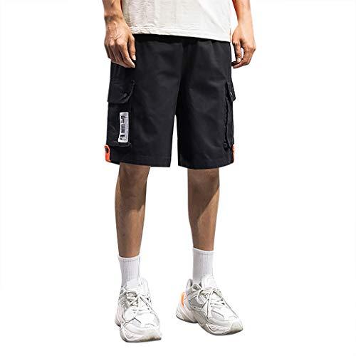 Setsail Herren Sport Pure Color Button beiläufige lose Jogginghose Drawstring Short Pants Trainingsshorts -