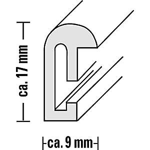 Hama-Bilderrahmen-Sevilla-24-x-30-cm-mit-Passepartout-15-x-20-cm-hochwertiges-Glas-Kunststoff-Rahmen-zum-Aufhngen