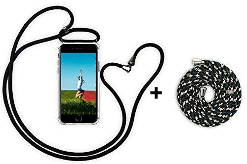 YuhooTech Handykette Kompatibel mit iPhone 5 / 5S / 5C, Smartphone Necklace Hülle mit Band - Handyhülle mit Kordel Umhängenband - Schnur mit Case zum umhängen (Schnur Geflochtener Viel Ladegerät 5 Iphone)