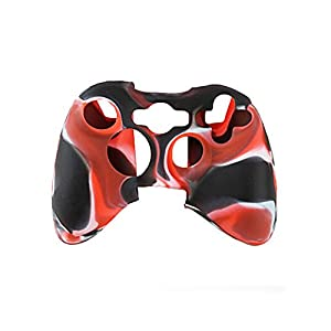 Feicuan Handle Case Cover Wireless Handle Protector Camouflage Sleeve für XBOX360 Color Red