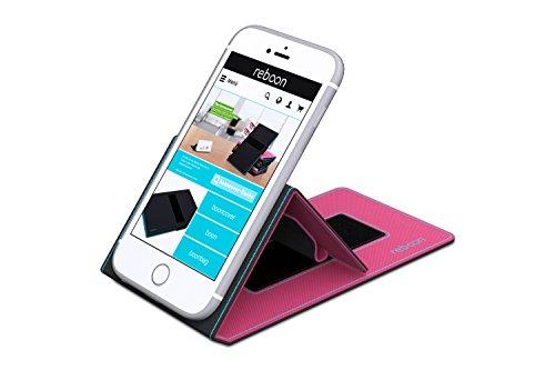 Étui pour Apple iPhone 5 de couleur Bleu - Boîtier innovateur 4 en 1 Coque Smart Cover Case - Support mural anti-gravité, porte-smartphone de voiture, support de table - Boîtier de protection murale e Rose