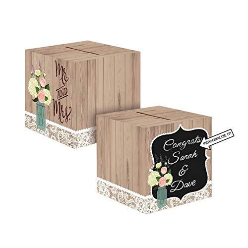 Creative Converting 088706Karte Box, rustikale Hochzeit (2er Pack) (Box Rustikale Hochzeit Karte)