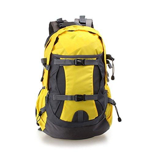 Nylon Trekking Schulter Tasche Faltbar Bergsteigen Tasche 40L Yellow