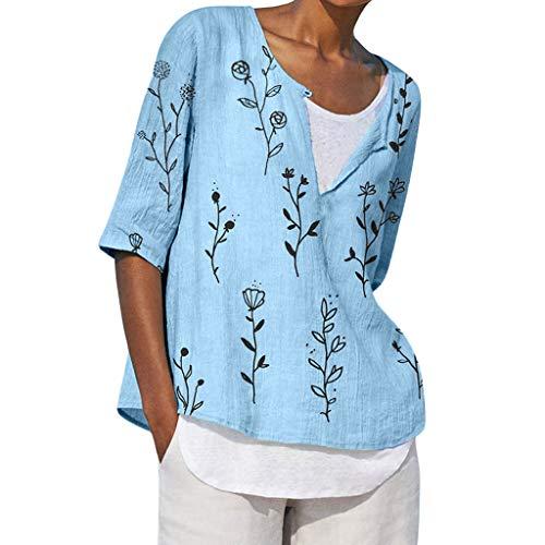 Sanahy Damen Plus Size Shirt - Frauen Casual Kurzarm Bluse Lose Plissee Nette Sommer Tee Tops Bluse T-Shirt Oversize Übergröße HemdBasic Kurzarmhemden T