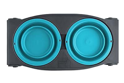 Dexas Popware Adjustable Height Pet Feeder (Blue) by Dexas
