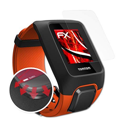 atFoliX Schutzfolie passend für Tomtom Adventurer Folie, entspiegelnde & Flexible FX Bildschirmschutzfolie (3X)