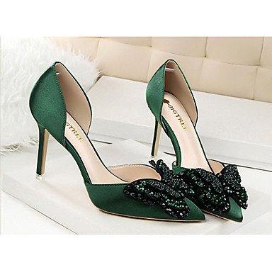 Moda Donna Sandali Sexy donna estate tacchi tacchi Casual di seta Stiletto Heel Bowknot nero / verde / rosa / rosso / grigio chiaro / nudo altri light gray