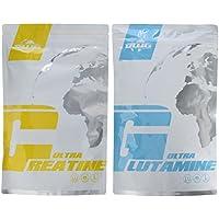 Preisvergleich für BWG Ultra Creatine Monohydrat Pulver + L-Glutamine Ultrapure Pulver, Doppelpack - Premiumqualität, Made in Germany...