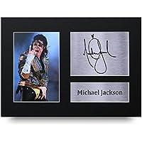 Michael Jackson Los Regalos Firmaron A4 la Dedicatoria Impresa Música La Foto de Impresión Imagina la Demostración