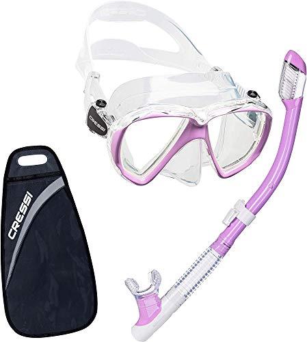 hsene Ranger & Tao Masken und Schnorchel zum Tauchen und Schnorcheln Transparent/Lilac Einheitsgröße ()