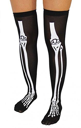 Foxxeo Schwarze Skelettstrümpfe