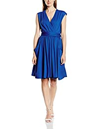 HotSquash Capped Sleeve Fit n Flare, Vestido para Mujer