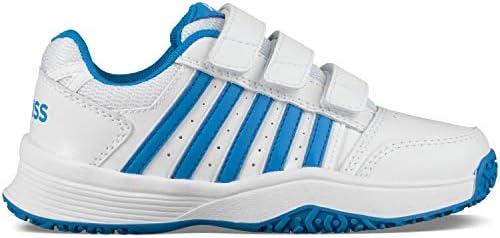 K-Swiss Performance Court Smash Strap Omni Scarpe Scarpe Scarpe da Tennis Unisex-Bambini, Bianco (bianca Brilliant blu 128M) 34 EU | Up-to-date Stile  | I più venduti in tutto il mondo  bd5be4