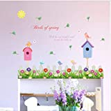 hemeibingqt hemeibingqt Wandaufkleber Vogel Wasserdicht Home Decoration Selbstklebend Vinyl DIY PVC 103 * 65cm