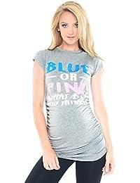 "Purpless Maternity ""Blue or Pink"" - Camiseta Para Embarazada B2014"