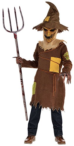 Scary Scarecrow Boys Fancy Dress Halloween Märchen Horror Kinder Kinder Kostüm (12-14 (Kinder Dress Fancy Halloween)