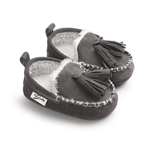 Ouneed® Krabbelschuhe , Christmas Baby Kleinkind Schuh weiche untere Anti Beleg Turnschuh beiläufige Grau