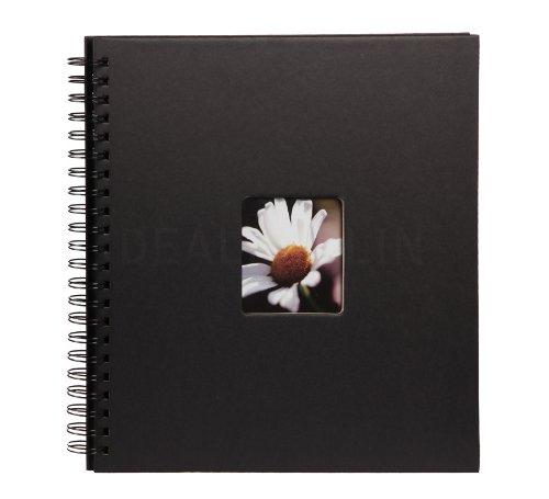 Flair III Spiralalbum 30x30 cm 40 schwarze Seiten Foto Album mit Bildausschnitt: Farbe: Schwarz