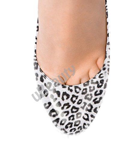 uBeauty - Scarpe da Donna - Leopardo Scarpe col Tacco - Classiche Scarpe col Tacco - Sexy Tacchi alti - Punto rotondo Bianco