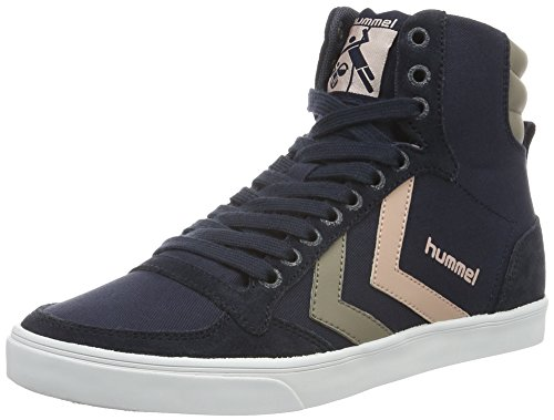 Hummel Slimmer Stadil Duo Canvas High, Sneakers Hautes Mixte Adulte Bleu (India Pink)