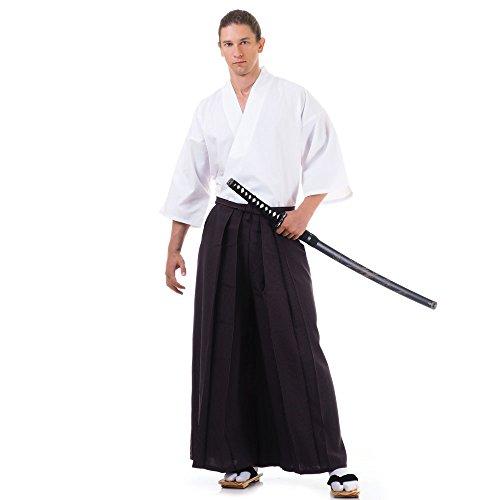 Kendo Gi & Hakama Laido Outfit Baumwolle One Size M L XL Braun & Weiß (Aikido-gi)