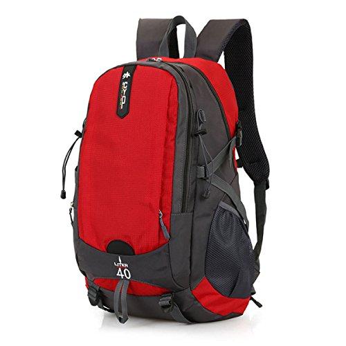 LQABW Nuovo Sacchetto Di Scuola Dello Studente Di Viaggio Grande Dello Zaino Da Viaggio Esterno Di Grande Capacità 36-55L,Blue Red