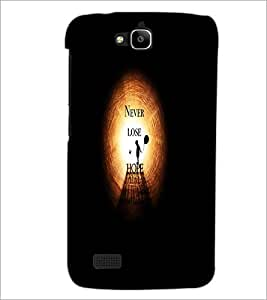 PrintDhaba Quote D-4738 Back Case Cover for HUAWEI HONOR HOLLY (Multi-Coloured)