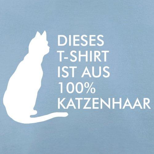 DIESES T SHIRT IST AUS 100% KATZENHAAR - Herren T-Shirt - 13 Farben Himmelblau
