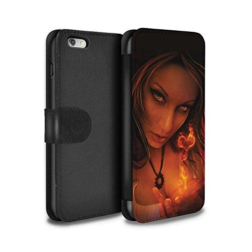 Officiel Elena Dudina Coque/Etui/Housse Cuir PU Case/Cover pour Apple iPhone 6S+/Plus / Relation amicale Design / Art Amour Collection Coeur flamboyant