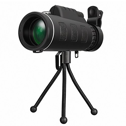 OUTERDO HD Monocular Telescopio portátil. Prismáticos 20x 60 de doble foco para ver eventos de caza, viajes y de cualquier otro tipo con libre trípode
