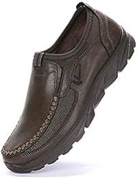 Logobeing Calzado de Hombre Zapatos Informales Antideslizantes Transpirables Zapatos Casuales Gruesos Inferiores Boda Vestir