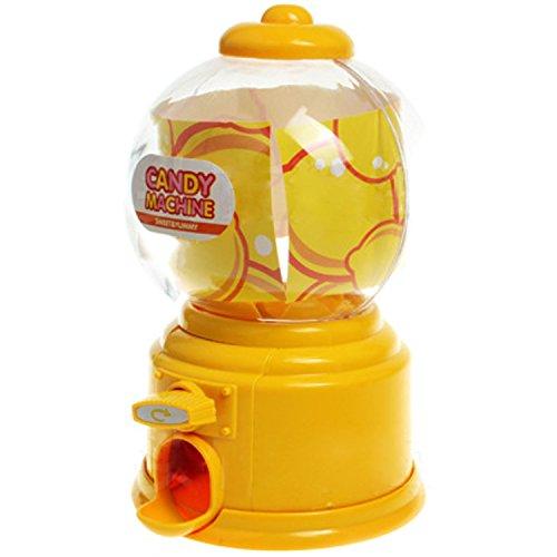 Gosear Mini Máquina Expendedora de Habas de Jalea Chicles Gomitas Azúcar Caramelo de Gumball / Dispensador de Snack para Novedad Fiesta Cumpleaños Regalo Juguetes para Niños,Amarillo