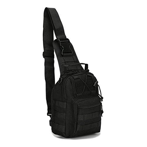 Mcdobexy Leichte Tactical Sling Rucksack Militär Schultertasche Umhängetasche EDC Brusttasche für Outdoor Sport Camping Wandern Fernglas Geldbörse