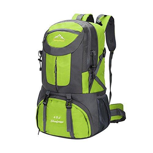 Bergsteigen Tasche mit großer Kapazität Outdoor-Camping-Rucksack Freizeit Rucksack Schulschüler Paar Rucksäcke Grün
