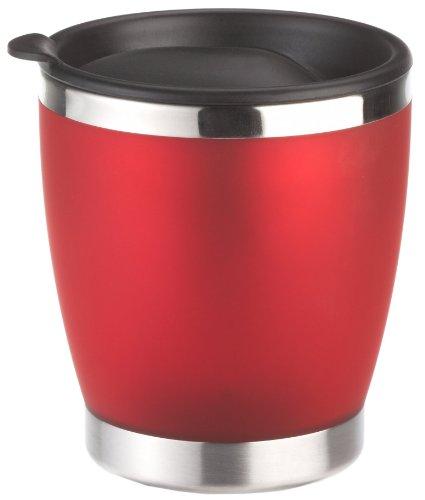 Emsa 504843 Isolier-Trinkbecher, Mobil genießen, 180 ml, Transluzent, Rot, City Cup (Edelstahl Isolier-becher)