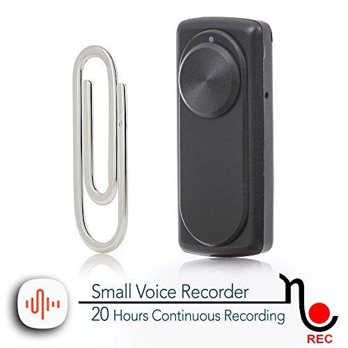 Mini Registratore Vocale | Capacità 8 GB -141 ore | Durata effettiva della batteria di 20 ore | Facile da usare | nanoREC di aTTo digital