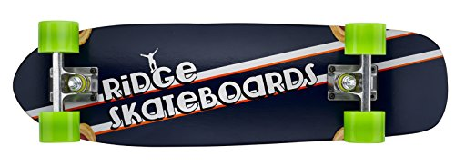 Ridge Skateboard Skunkslider Old School Kurzen Minikreuzer Short Cruiser Komplett Grün 69 cm