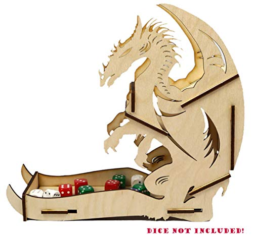 Docsmagic.de Dice Tower Dragon Wooden Small - Torre