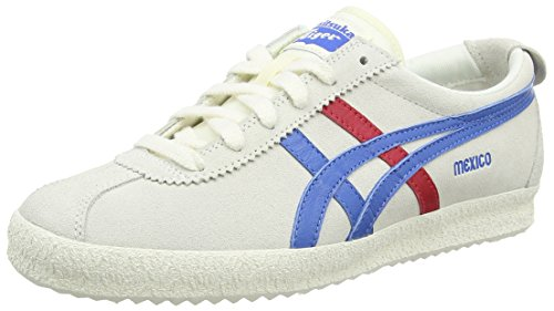 Onitsuka Tiger Mexico Delegation, Sneakers Basses Unisexe adulte Blanc - White (White/Blue 0142)